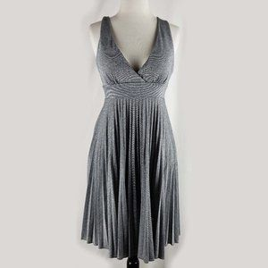 Max & Cleo shimmery pleated gray dress, 10 NWT